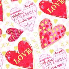 Kanvas Cherish Hearts of Love - White