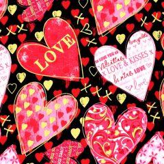 Kanvas Cherish Hearts of Love - Black