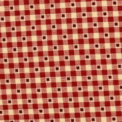Henry Glass Liberty Star Gingham Stars - Deep Red main