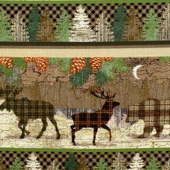 Henry Glass Twilight Lake Novelty Stripe Animals - Multi main