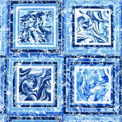 Henry Glass Pearl Luxe II Marble Blocks - Blue main