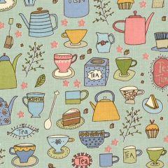 Henry Glass Tealicious Tea Cups and Tea Pots - Slate Blue main
