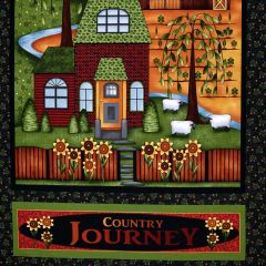Henry Glass Country Journey Banner Panel - Black main
