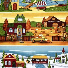Henry Glass Country Journey Border Stripe Panel - Ochre main