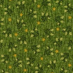 Henry Glass Country Journey Wheat Star Calico - Green main