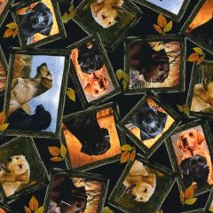 Quilting Treasures Loyal Loveable Labs Tossed Labrador Patches - Black main