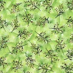 Quilting Treasures Emma Sprig - Light Moss main