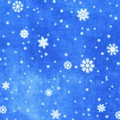 Northcott O Christmas Tree Snowflakes - Blue main