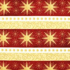 Northcott Angels Above - Stonehenge Star Stripe - Red main