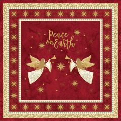 Northcott Angels Above - Stonehenge Peace on Earth Panel - Red main