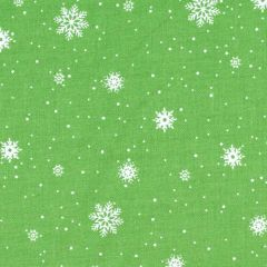 Northcott Double Decker Christmas Snowflakes - Green main