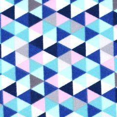 Northcott Frost Bite Flannel Triangles - White main