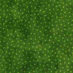 Northcott Deck The Halls Dot Texture - Green main