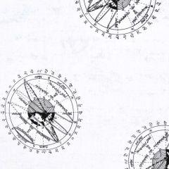 Andover Encyclopedia Galactica Vintage Orbit Illustration - White main