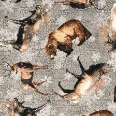 Northcott North Ridge Flannel Animal Toss - Gray main