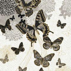 Northcott Shimmer Fantasia - Shadows  Butterfly Panel - Cream Neutral main