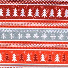 Kanvas Noel Forest Nordic Stripe - Gray/Red main