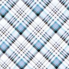 Henry Glass Snowy Woods Plaid - Aqua/Brown main