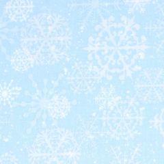 Henry Glass Snowy Woods Snowflakes - Aqua main