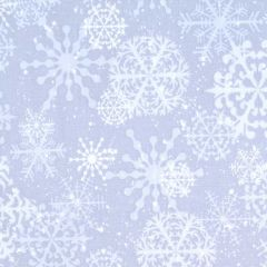 Henry Glass Snowy Woods Snowflakes - Gray main