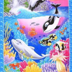 Studioe Sea World Sea Creature Banner Panel - Royal main