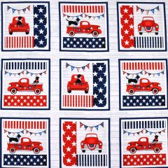"Studioe Truckin' In the USA Patriotic 7"" Block Panel - Multi main"