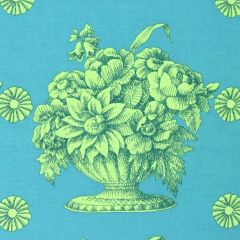 Free Spirit Kaffe Fassett Collective - Fall 2018 Stone Flower - Turquoise