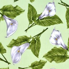 Benartex Magnificent Blooms  Calla Lily - Sage main