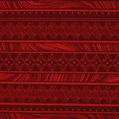 Benartex Magnificent Blooms  Nouveau Stripe - Red main