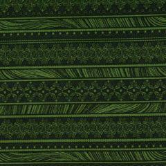 Benartex Magnificent Blooms  Nouveau Stripe - Green main