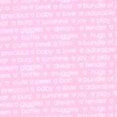 Contempo My Little Sunshine II Sunshine Words - Light Pink main