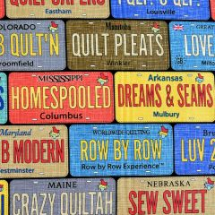 Timeless Treasures Row By Row 2017 On The Go License Plates main