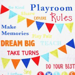 Timeless Treasures Playroom Playroom Rules Panel main