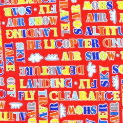 Henry Glass Air Show  Words - Red main