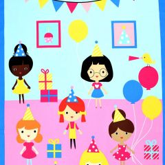 Robert Kaufman Girl Friends Celebration Panel main