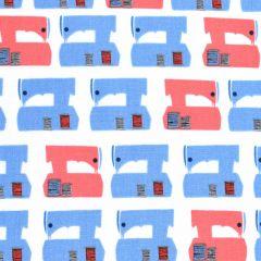 Robert Kaufman Sew Dressed Up Sewing Machines Navy main