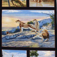 Elizabeth's Studio African Animals African Animals Panel - Black main