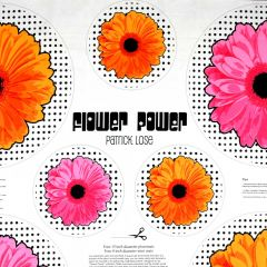 Patrick Lose Flower Power Table Toppers Panel - Orange Pink main