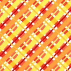 In The Beginning ABC Animals Flannel Flannel Plaid - Orange main