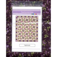 Maywood Studio Aubergine Night Shade Quilt Kit front