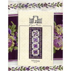 Maywood Studio Aubergine Whirligig Table Runner front