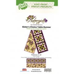 Maywood Studio Aubergine Sister's Choice Table Runner Pod front