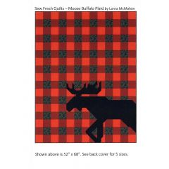 Sew Fresh Quilts Moose Buffalo Plaid front